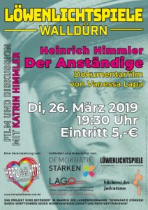 """Heinrich Himmler. Der Anständige (The Decent One) @ Kino """"Löwenlichtspiele"""" Walldürn"""