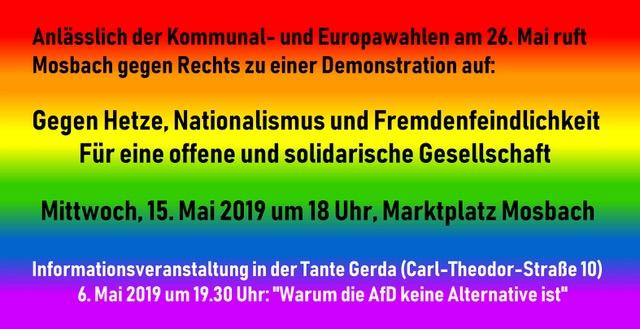 Demo Gegen Hetze, Nationationalismus und Fremdenfeindlichkeit