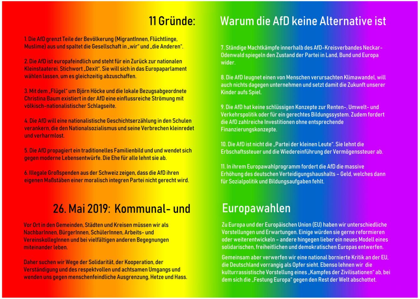 11 Gründe die AfD nicht zu wählen